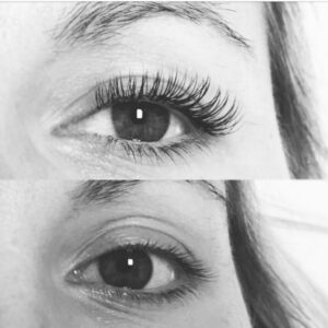eyelash before and after